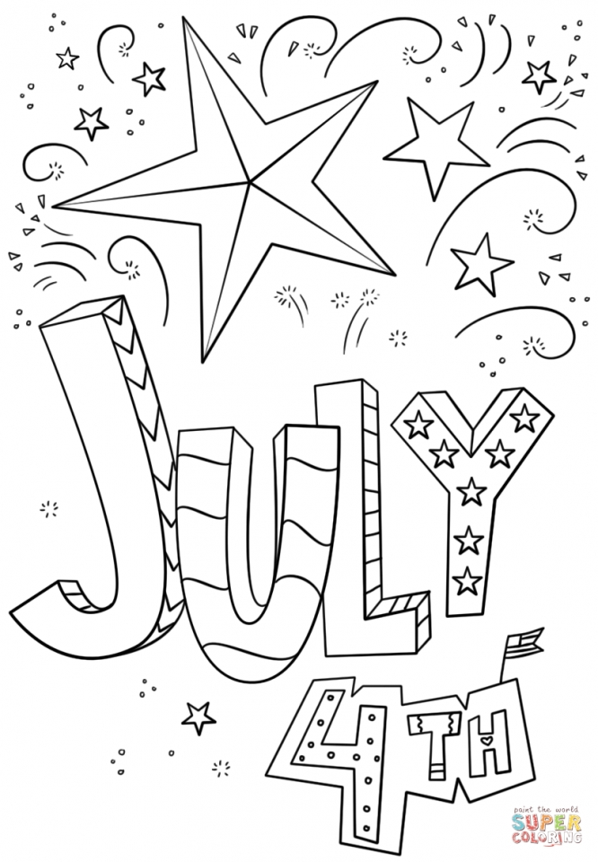 Get This 4th of July Coloring Pages Free for Kids 8416s