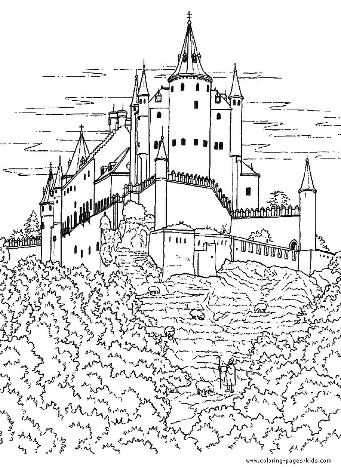 Castle Coloring Pages for Adults - b47ch