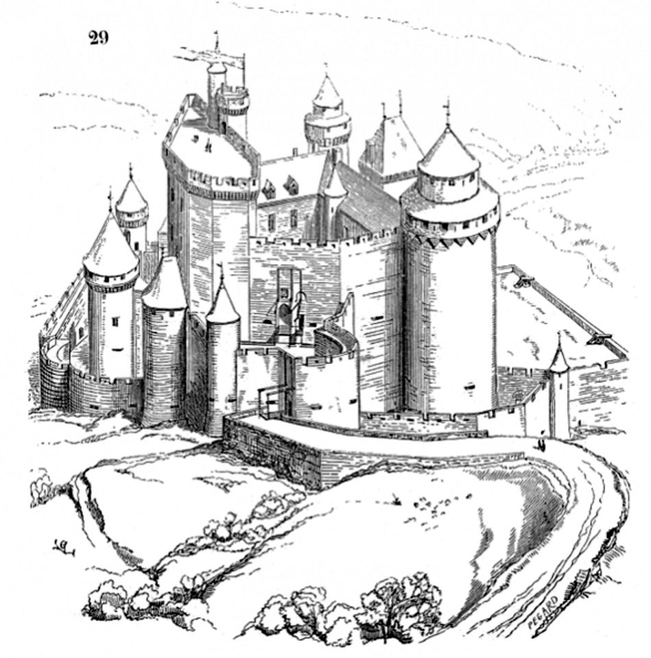 Castle Coloring Pages for Adults - b57s9