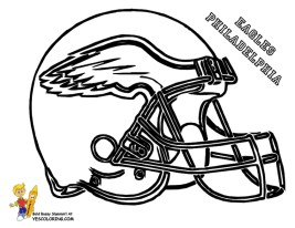 Coloring Pages of NFL Helmets - 041ha