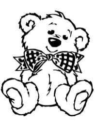 Coloring Pages of Teddy Bear for Toddlers - 15sf4