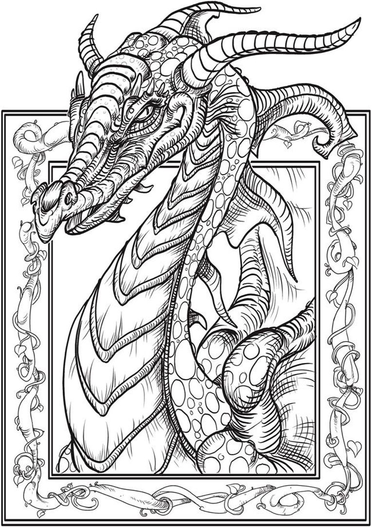 Get This Dragon Coloring Pages For Adults Free Printable Yw6x8