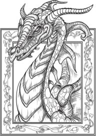 Dragon Coloring Pages for Adults Free Printable - yw6x8