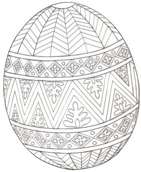 Easter Egg Design Coloring Pages - 51221