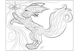 Fox Coloring Pages adults printable - 83784