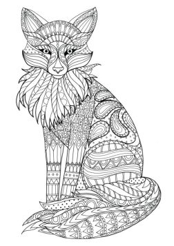 Fox Coloring Pages for Adults to print - 72bsh