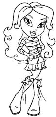 Free Bratz Coloring Pages to Print for Girls - cv37m