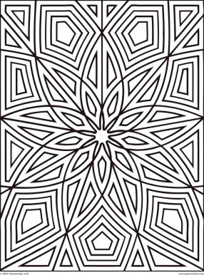 Geometric Design Coloring Pages - 89591