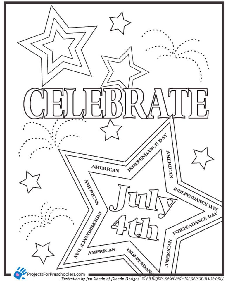 Get This Happy 4th of July Coloring Pages for Toddlers