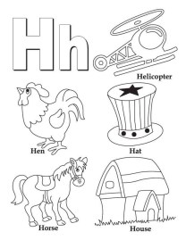 Letter H Coloring Pages - y3bal