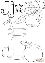 Letter J Coloring Pages Juice - j4nml