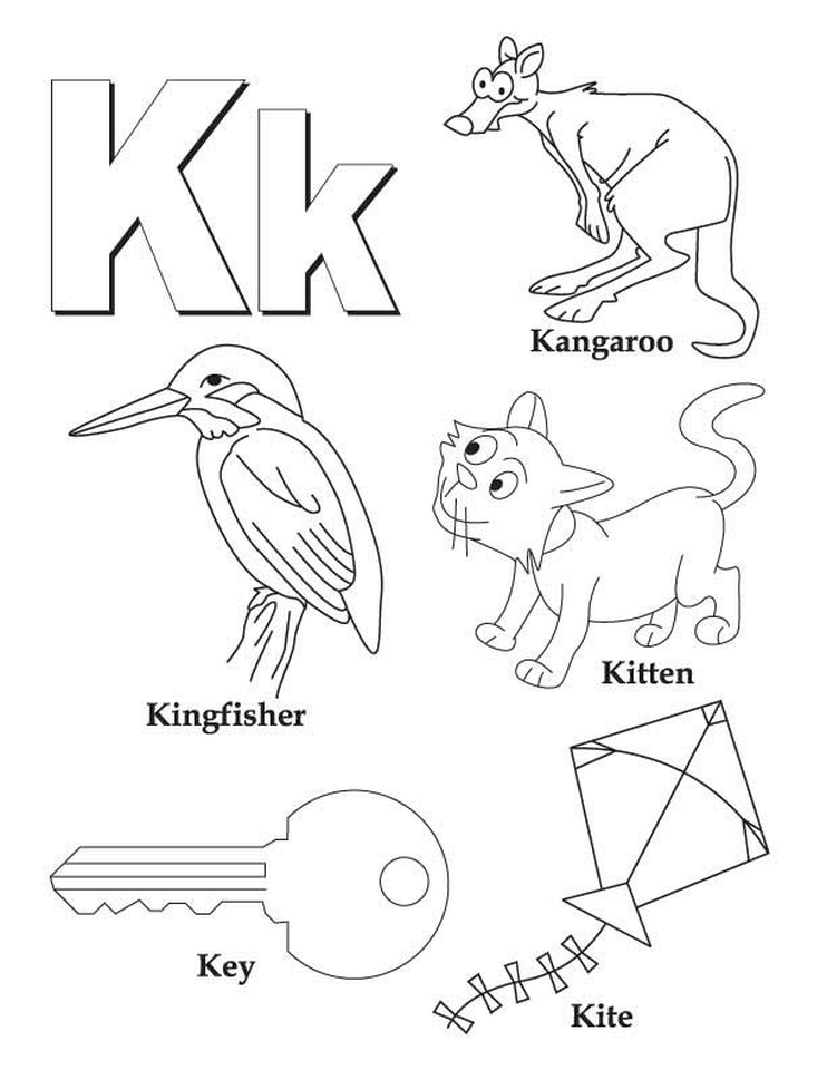 Letter K Coloring Pages - tf4m1