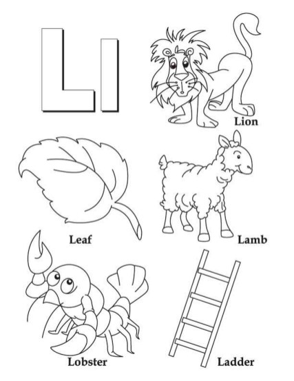 Letter L Coloring Pages - op3l1