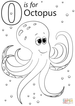 Letter O Coloring Pages Octopus - y4m11