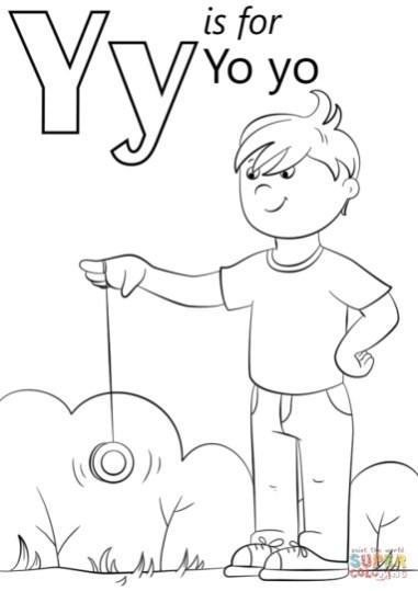 Letter Y Coloring Pages Yo Yo - 3ab3l