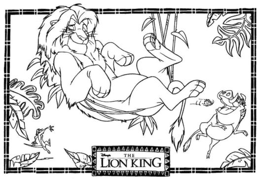 Lion King Coloring Pages Disney - 894a6