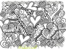 Love Coloring Pages for Adults Printable - 67182