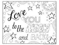 Love Coloring Pages to Print for Kids - 90579