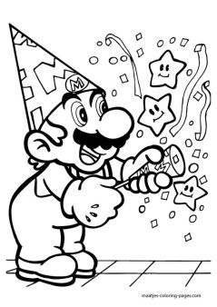 Mario Coloring Pages Free to Print - nfur4
