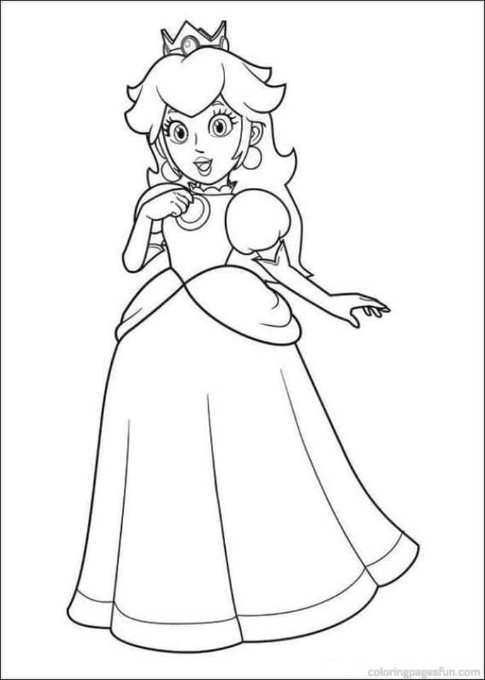 Mario Coloring Pages Peach Free to Print - hye3m