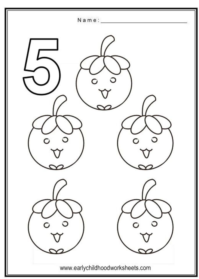 Number 5 Coloring Page - 562s5