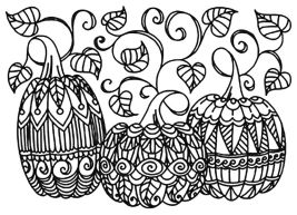 Pumpkin Coloring Pages for Adults Printable - 6cvd1