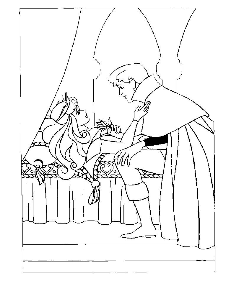Sleeping Beauty Coloring Pages Free to Print - 4u55l