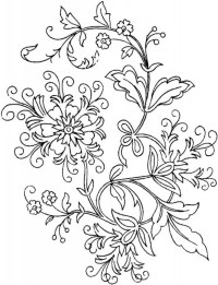 Get This Abstract Flowers Coloring Pages for Adults 7cv50