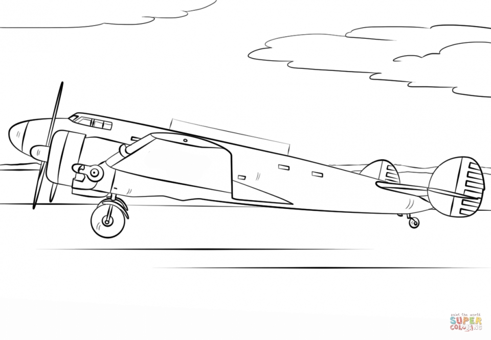 Airplane Coloring Pages for Kids   5cvg9