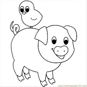 Baby Pig Coloring Pages 3ah59