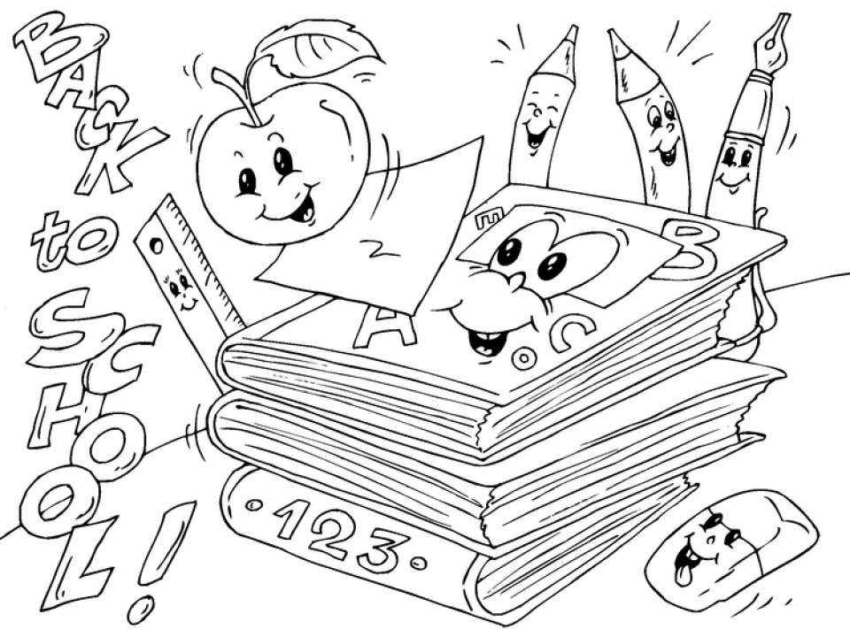 Get This Back to School Coloring Pages for Kindergarten