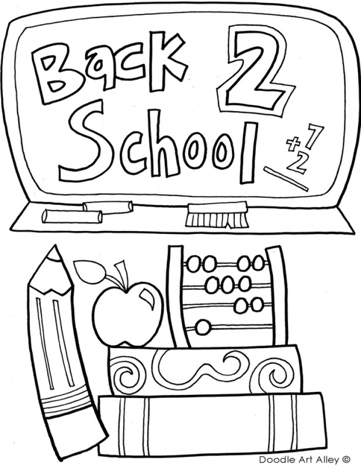 Back to School Coloring Pages for Kindergarten   73610