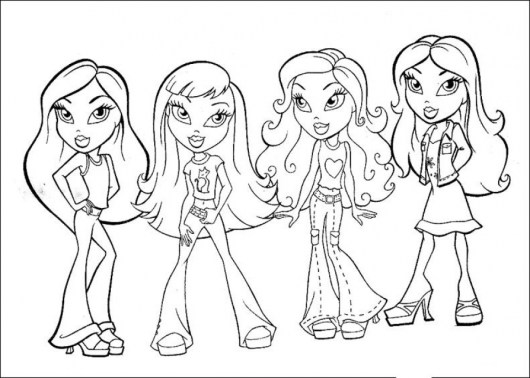 Bratz Coloring Pages for Girls agkh9