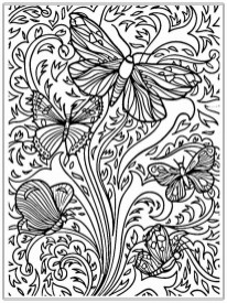Butterfly Coloring Pages for Adults Free 2atr8