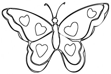 Butterfly Coloring Pages for Preschoolers 85g21