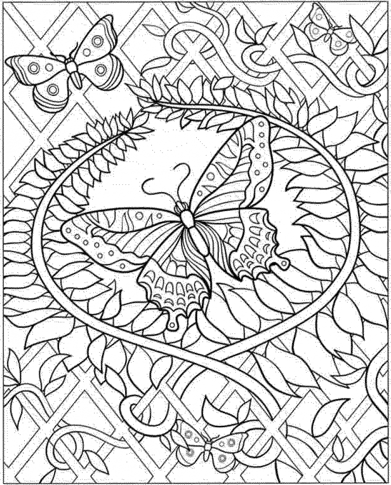 Butterfly Coloring Pages to Print for Adults   17851