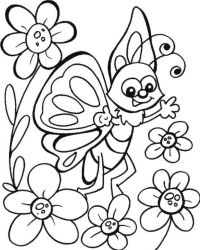 Get This butterfly on flower coloring pages - y6q7d