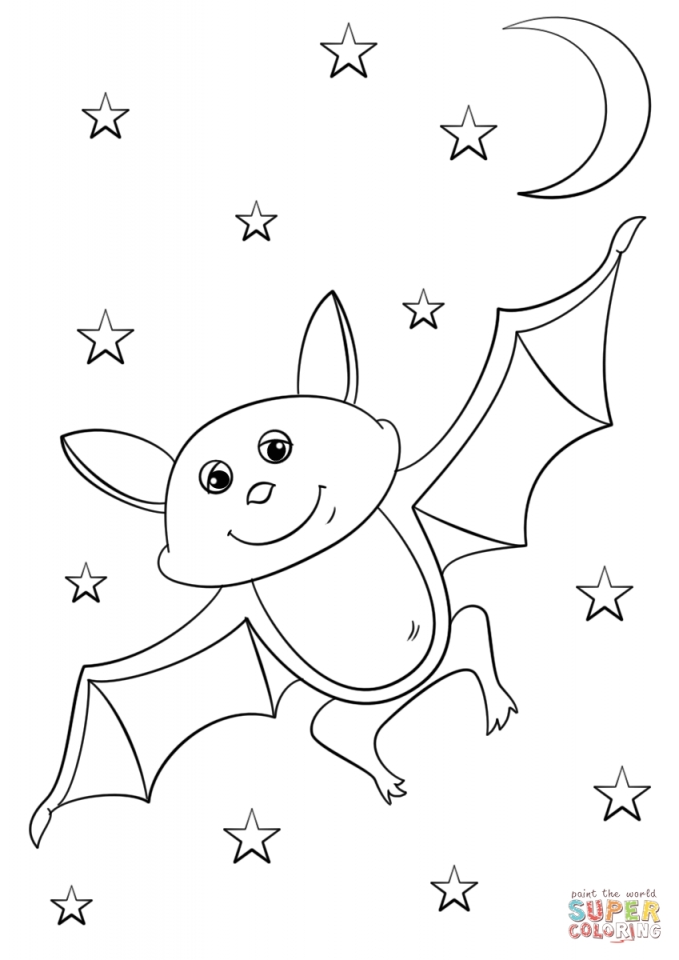 Cartoon Bat coloring pages for kids   79921