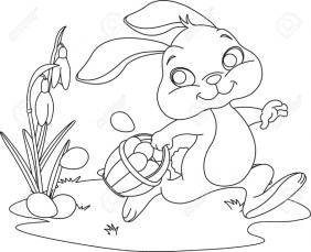Cartoon Easter Bunny Coloring Pages for Kids 74912