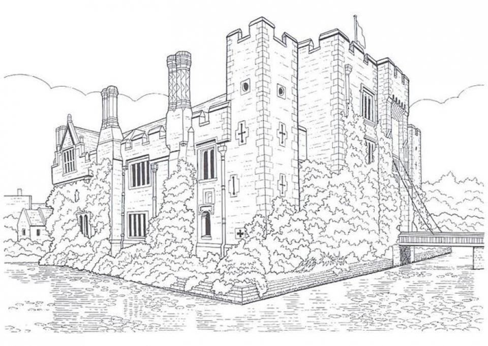 Castle Coloring Pages for Adults   126dg