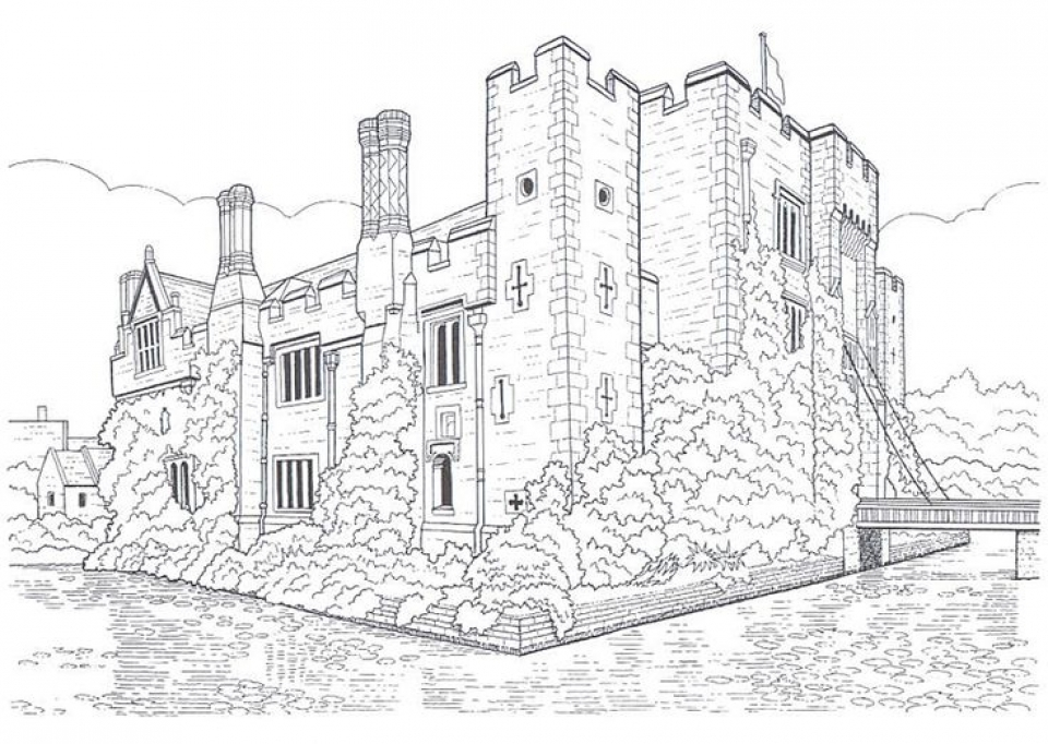 Castle Coloring Pages for Adults   126dg