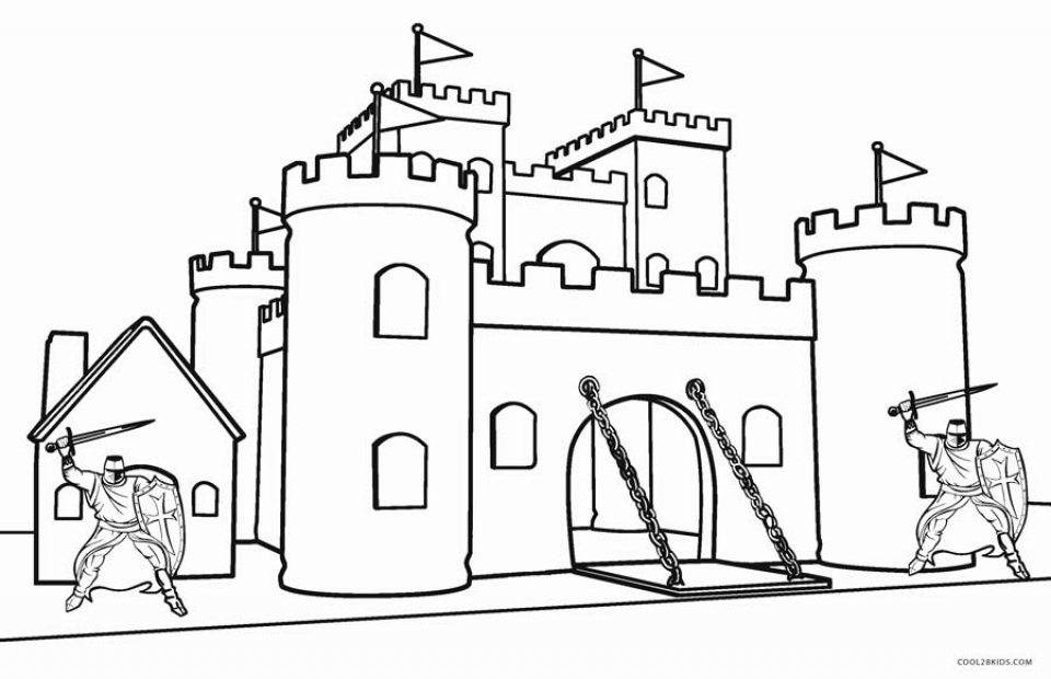 Castle Coloring Pages Printable   urg63