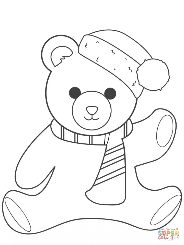 Polar Bear Sketches Sketch Coloring Page