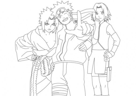 Coloring Pages of Naruto 74677