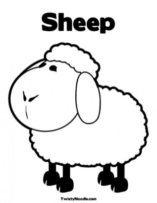 Coloring pages of sheep ahd2m