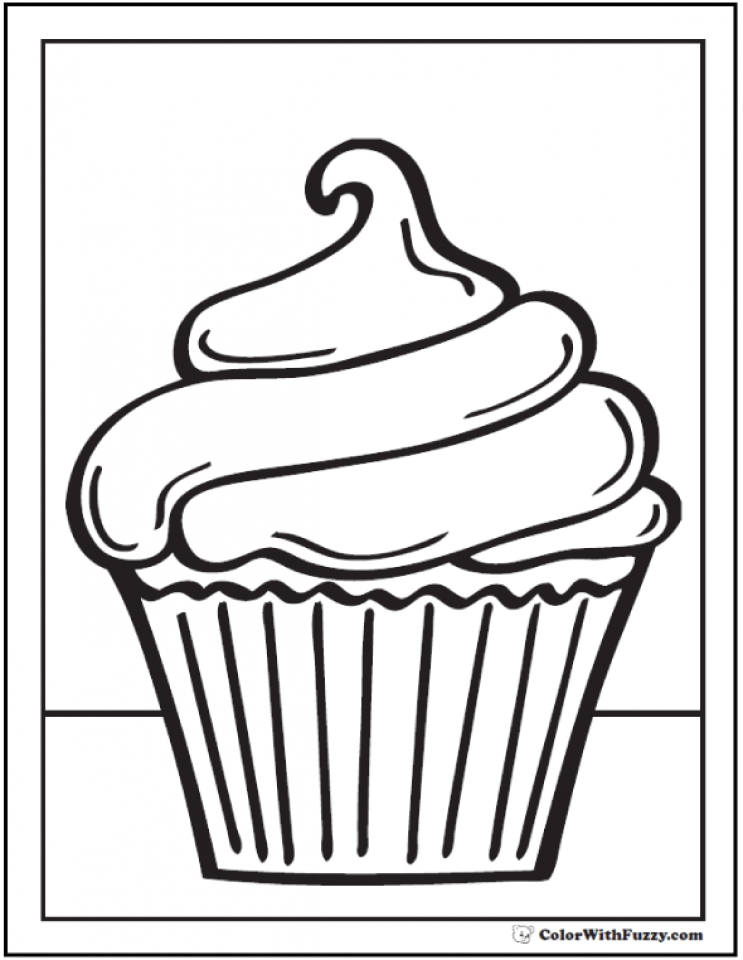 Get This Cupcake Coloring Pages Free 74162