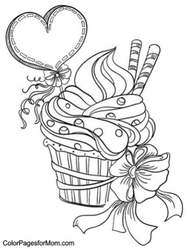 Cupcake Coloring Pages to Print 67312