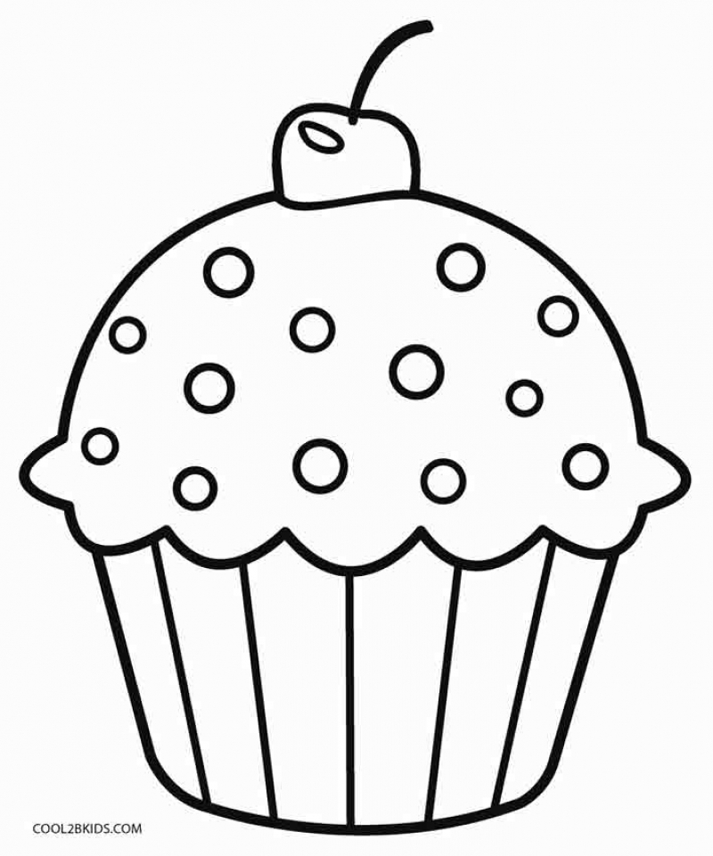 Get This Cute Cupcake Coloring Pages 56219