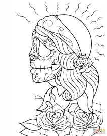 Day of the Dead Coloring Pages Adults Printable 0vgd3