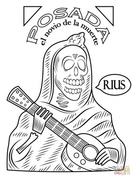 Day of the Dead Coloring Pages Free to Print 73bcg